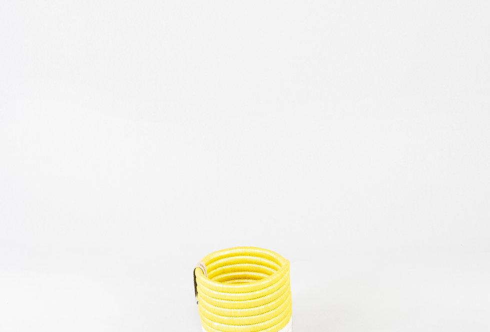 KATAKURU BASKET (upcycled yellow)