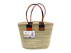 handwoven tote bag Iringa basket Vikapu Bomba