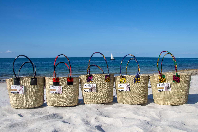 Vikapu Bomba - handwoven tote bags