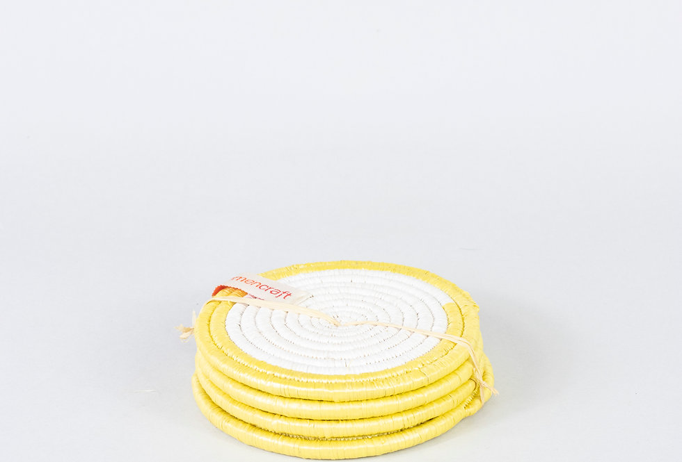 COASTER SET (upcycled yellow)