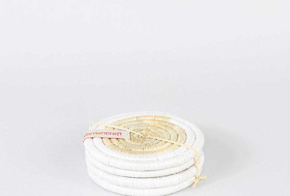 COASTER SET (upcycled white)