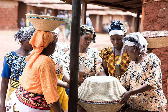 Women Artisans Discussing Fair Trade Handmade Home Decor