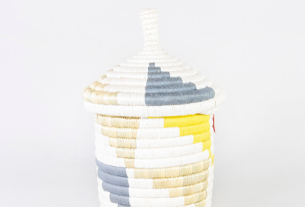 KITWARO BASKET | INYABU DESIGN (grey/yellow)