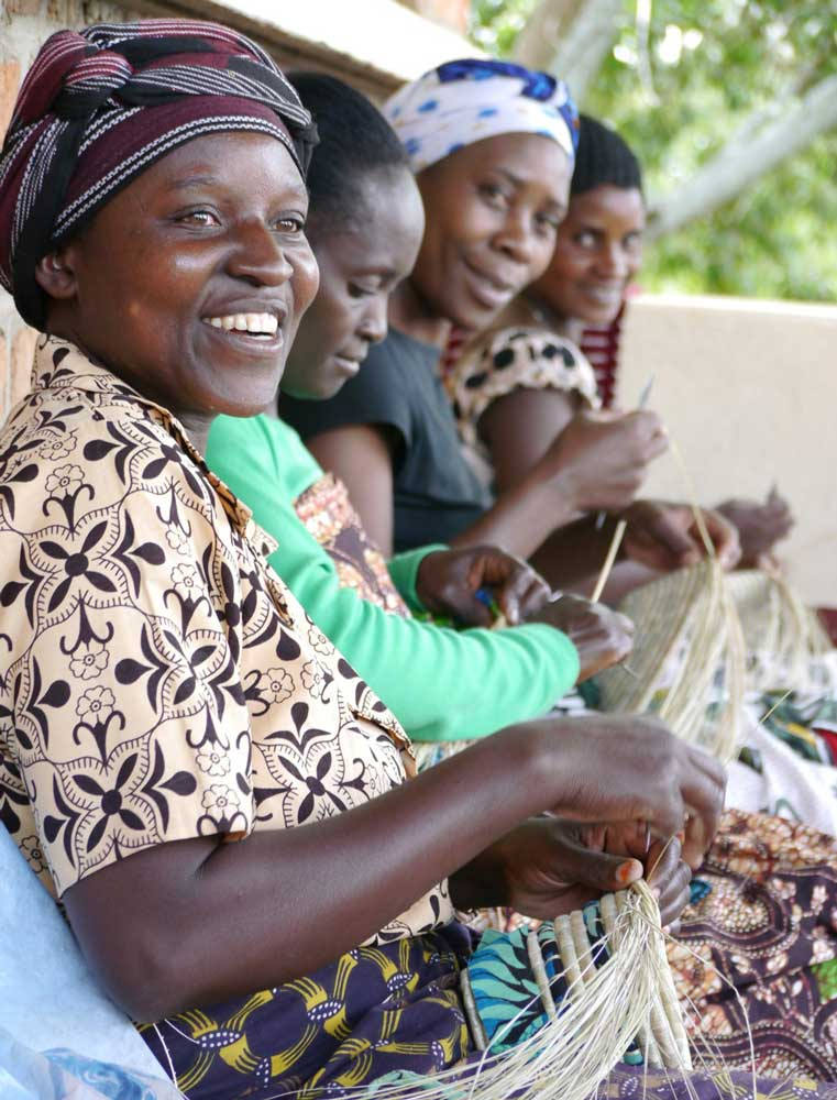 Women artisans weaving