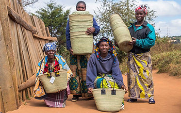 Vikapu Bomba artisans with Iringa Baskets