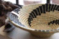 Handmade Fair Trade Home Decor black Monochrome fruit bowl