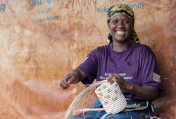 Refugee artisan weaving Kitwaro