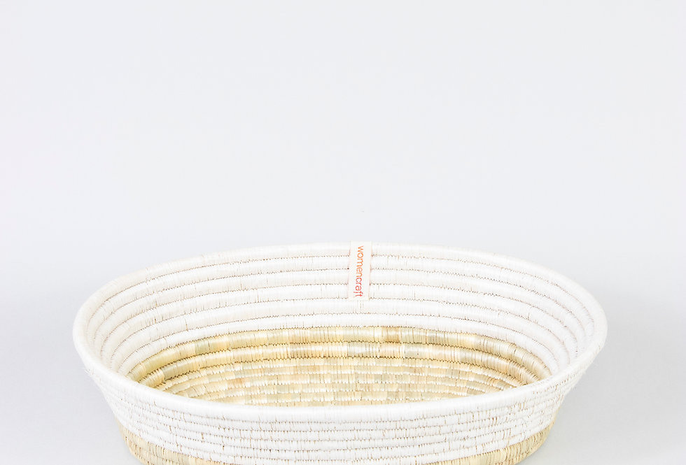 MKATE BASKET (upcycled white)