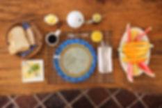 Handmade Fair Trade Home Decor blue Kitenge Table Mat