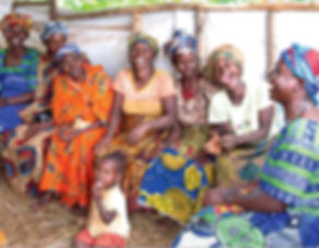 women artisans weaving together