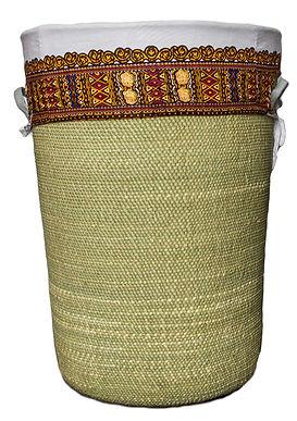 handwoven laundry basket Iringa Vikapu Bomba