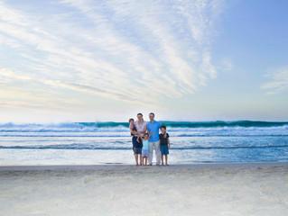 A sunset family affair