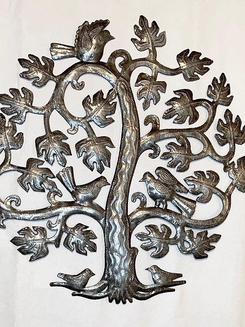 Birds in Breadfruit Tree