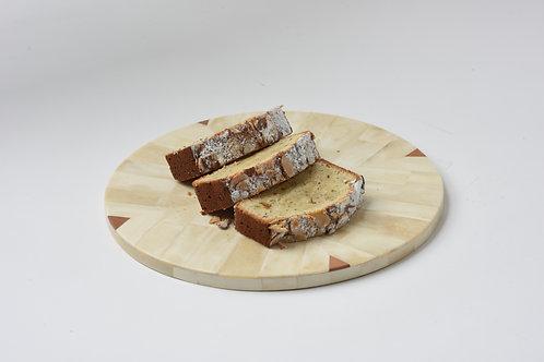 Round multi-tone bone serving tray