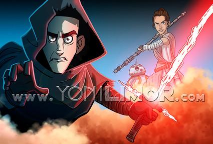 Kylo and Rey -Yoni Limor