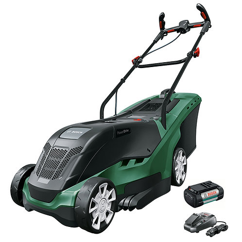 "BOSCH UNIVERSALROTAK 550LI 15"" BATTERY POWERED LAWNMOWER"
