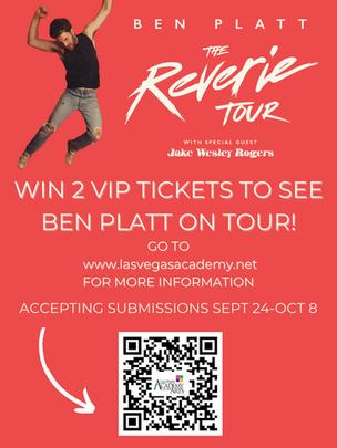 LVA Students can Win 2 VIP Tickets to see Ben Platt on Tour