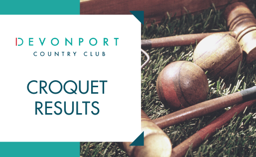 Croquet Results Week Ending Sun 8th March 2020