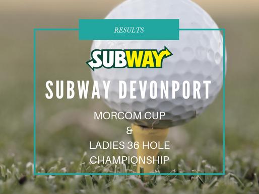Subway Devonport Morcom Cup & Ladies 36 Hole Championship Results
