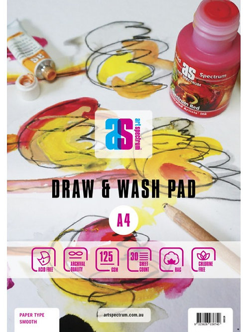 Art Spectrum Draw & Wash Pad - 125GSM