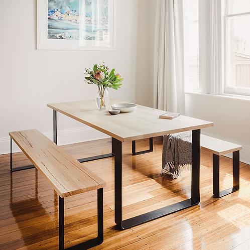 Estelle Bench Seat / Tasmanian Oak – Black Base