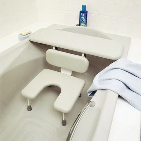 Combines A Bath Board And Bath Seat, Both Padded For Maximum Safety And  Pressure Relief.