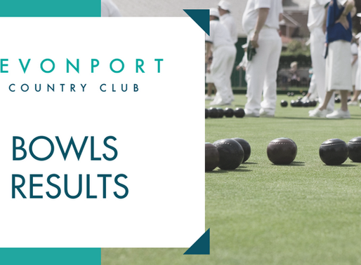 Bowls Results Week Ending 27th March