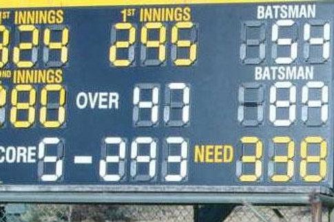 Shield Cricket Scoreboard