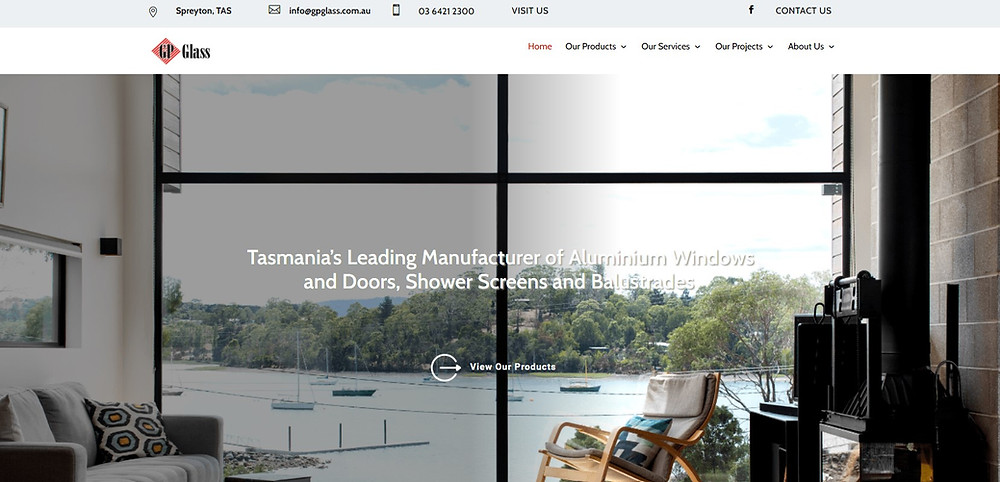 Gp Glass Website