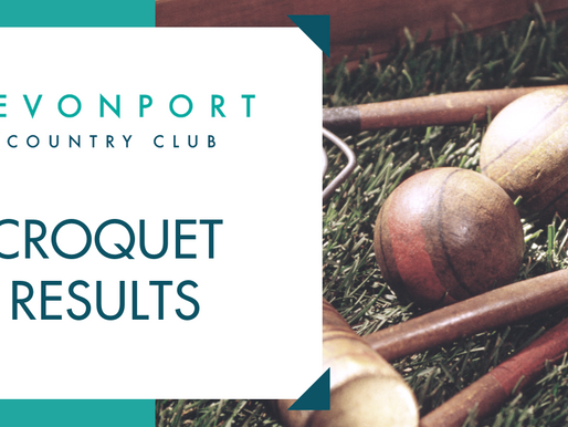 Croquet Results Past Week
