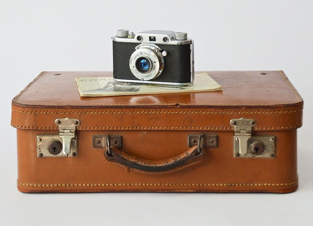 Camera on suitcase - TassieCat