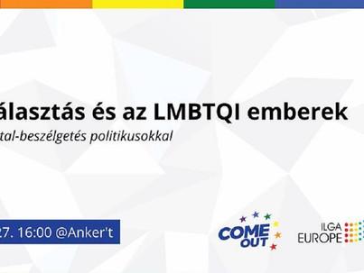 Programajánló: EP-választás és az LMBTQl emberek - beszélgetés politikusokkal