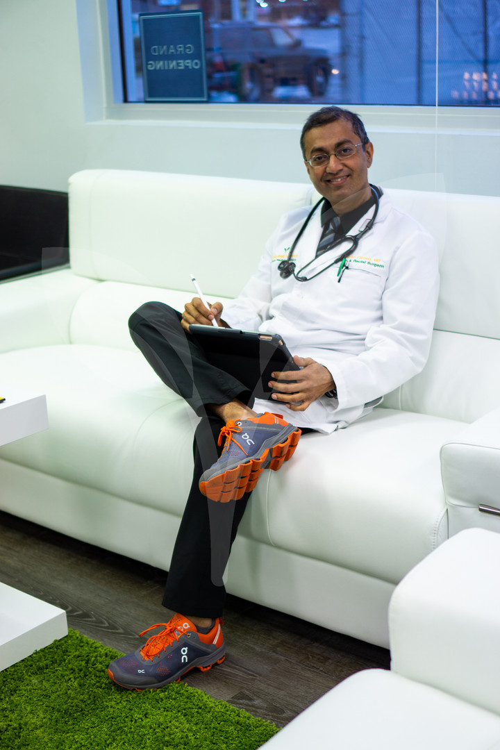 Doctor Farooq in the CBD Lounge