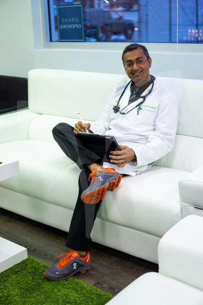 Doctor Farooq in the CBD Lounge