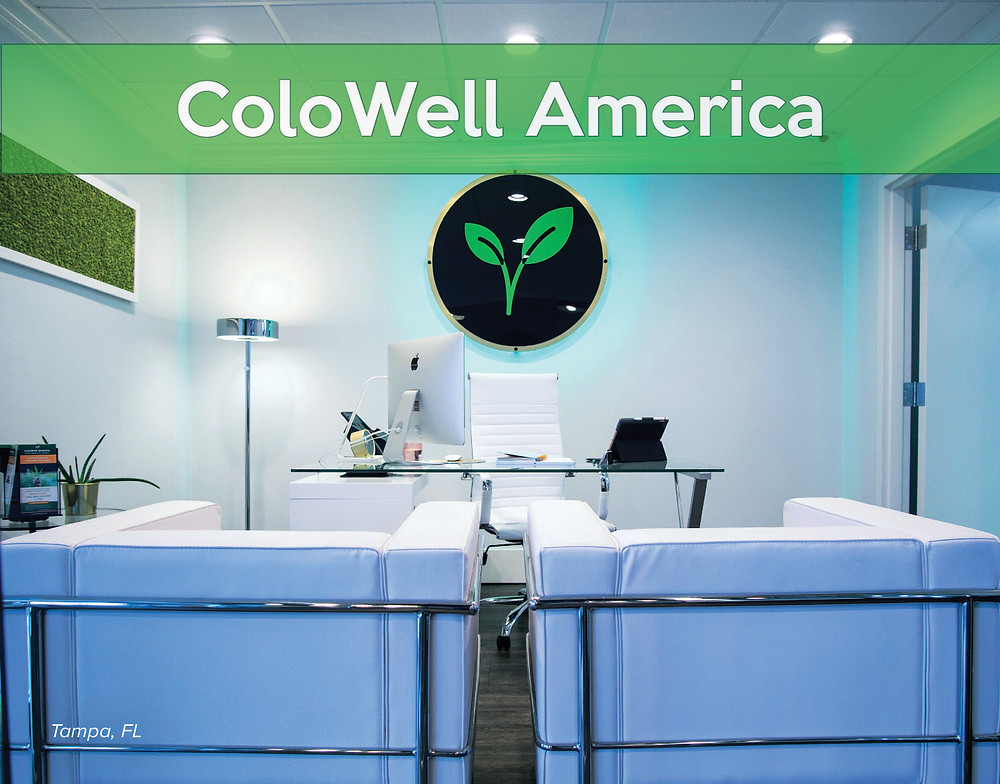 Front desk patient check-in at ColoWell America, Tampa, FL