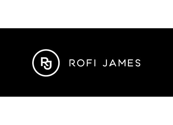 "Rofi James Sticker (Small) - 2"" x 1.5"""