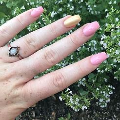 #pinkandgold #opalring #nails #thevillag