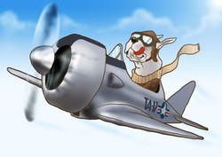 Dog aviator