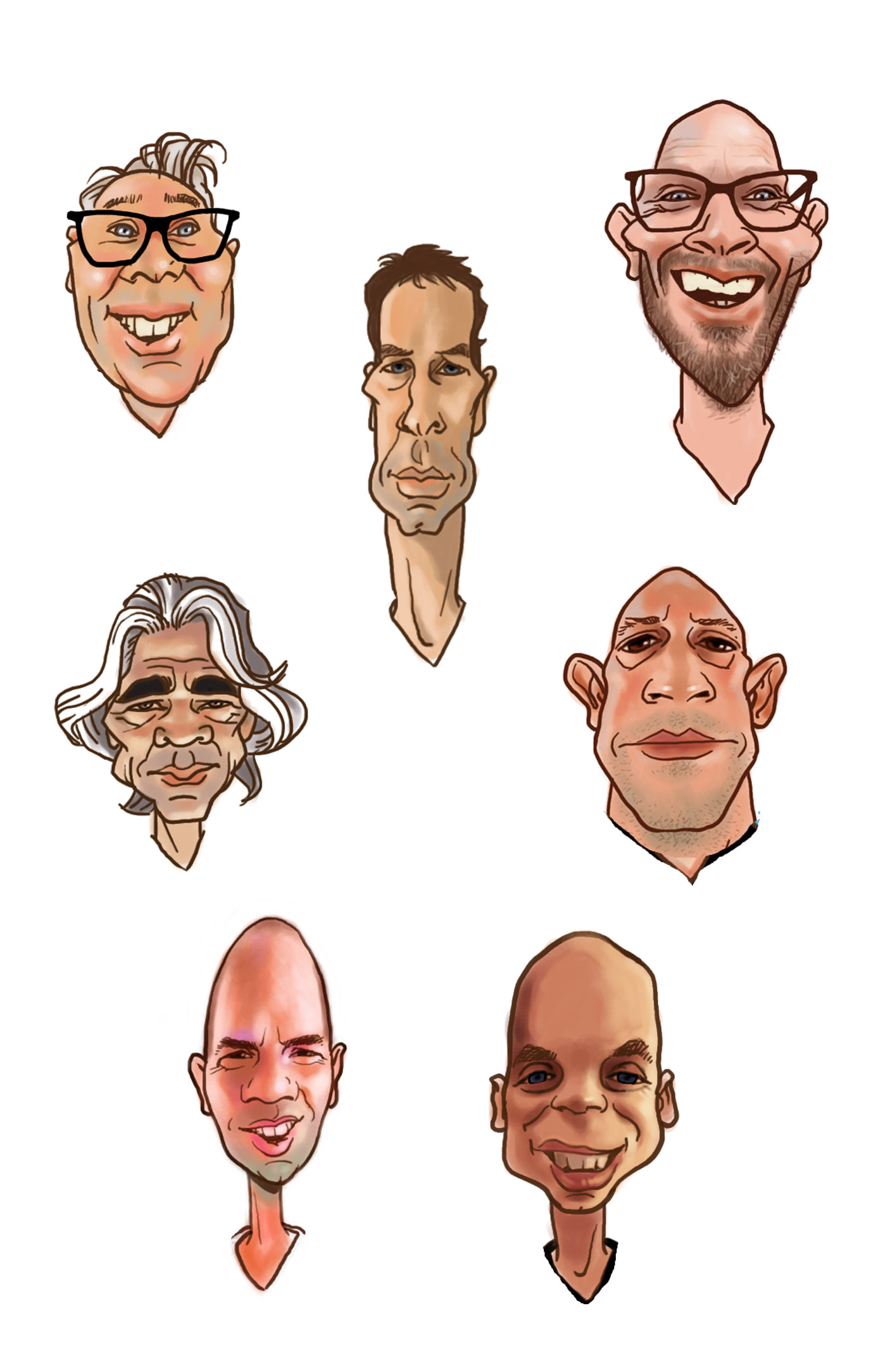 company caricatures