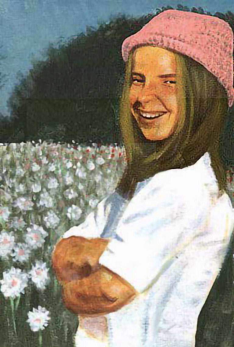 Girl in flowerfield