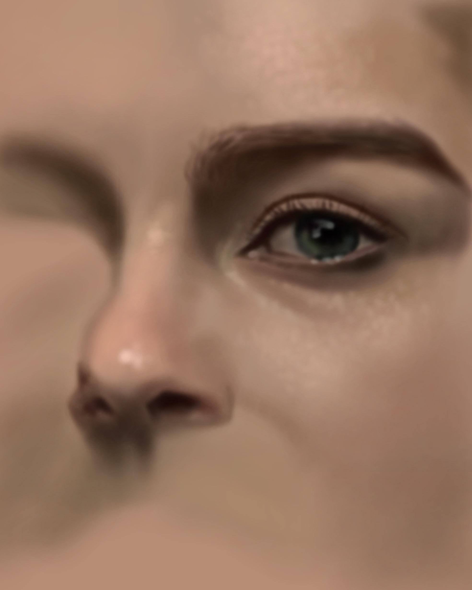 digital portrait progress