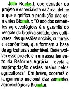 João Rockett idealiza a BioNatur