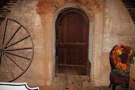 Photo of door in attic at The Pillars