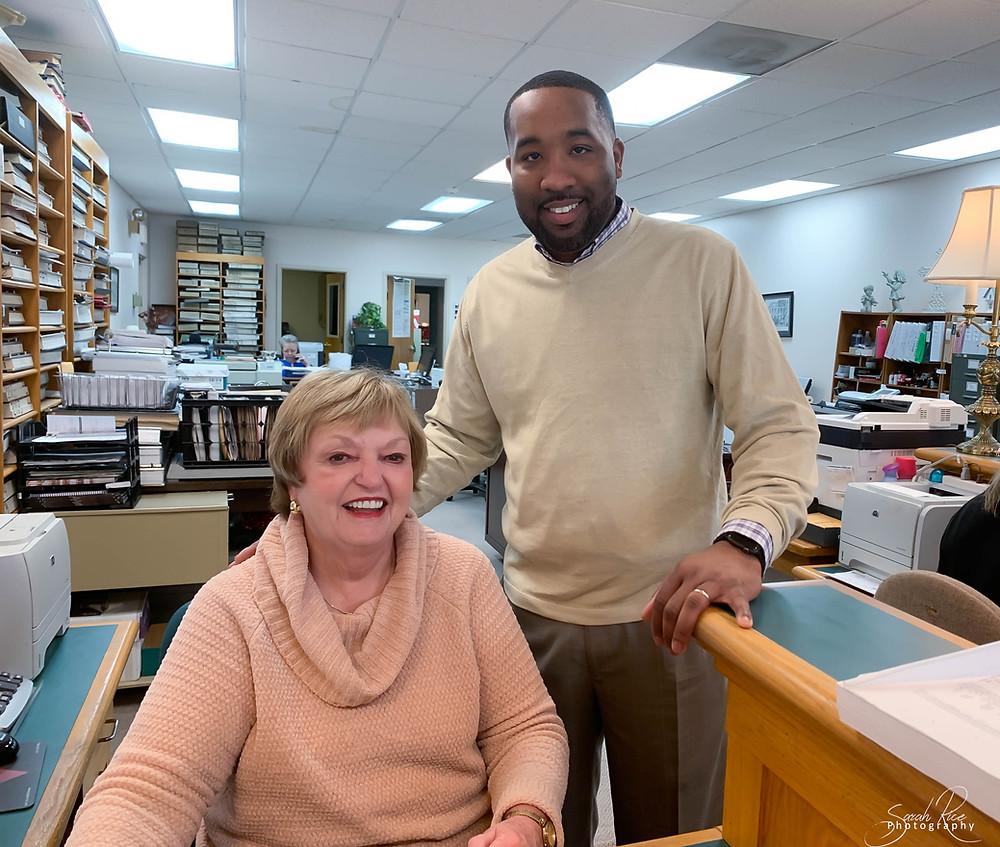 Photo of Mayor McTizic and Mrs. Linda Clifft