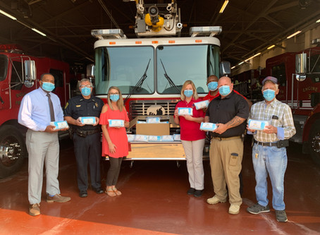 City of Bolivar Receives Donation of Masks for First Responder Agencies throughout the County