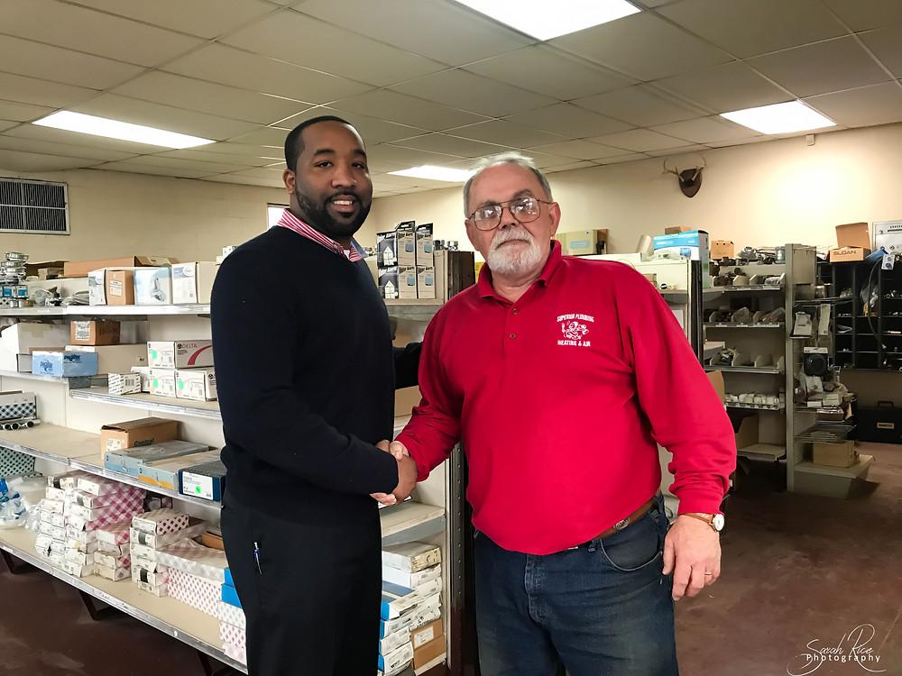 Photo of Mayor McTizic and Bill Garrett