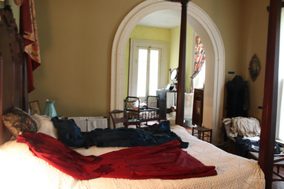 Photo of bedroom with antique decor
