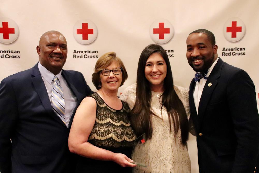 Photo of Lynn Price, Sarah Rice, Heather Carbajal, Mayor Julian McTizic