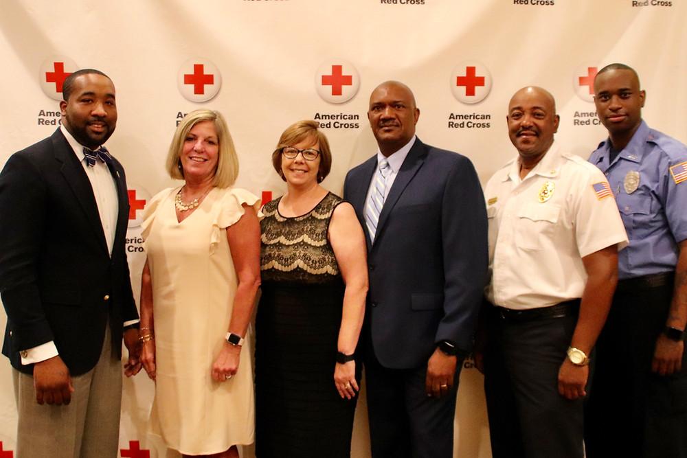 Photo of Mayor McTizic, Sheila Dellinger, Sarah Rice, Lynn Price, Michion Gatlin, William Turner