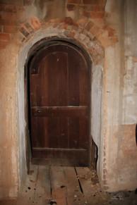 Photo of attic doorway at The Pillars